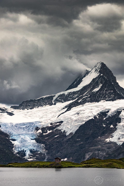 Schreckhorn, Grindelwald, Schnee, Gletscher, Wandern, See, Bachalpsee, Schweiz, Steg, Fotografie, Adrian